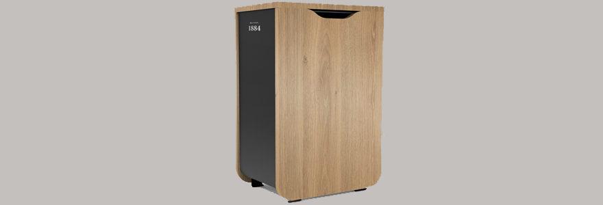 poubelle design en bois
